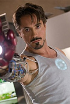 Downey goes from scrap to Iron in his first superhero role.