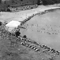 15 Vintage Cleveland Beach Photos Edgewater Yacht Club, 1930s.