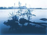 """Eletric Plant From Beaver Island"" By John Pfahl, - photograph."