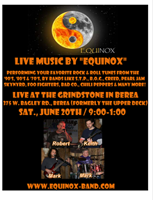 POSTER PROVIDED BY BAND EQUINOX - Equinox concert poster
