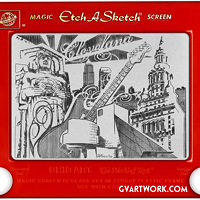 22 Incredible Works of Art by the Vlosich Bros of GV Art & Design Etch-A-Sketch by George Vlosich Photo Courtesy of GV Art & Design