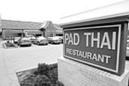 Even from the street, Pad Thai's pagoda-shaped roof - is an eye-catcher. - WALTER  NOVAK