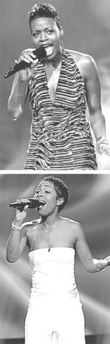 Fantasia Barrino (top); La Toya London (bottom)