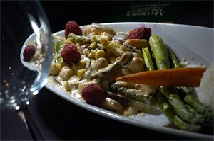 Fresh berries and toasted hazelnuts splash up the flavor of Northwest-Style Salmon Sauté. - WALTER NOVAK