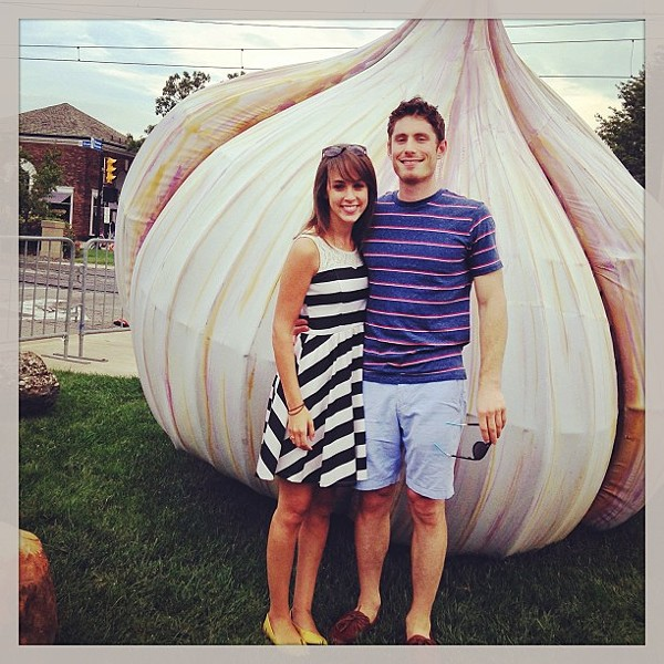#garlicfest with my main squeeze. @readysetgoody - PHOTO COURTESY OF INSTAGRAM USER SARALEH