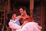 Gaston woos Belle in Beck Centers Beauty and the - Beast.
