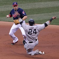 11 Indians' Double Plays That Don't Look Like Double Plays Gearing up for THE BIGGEST hug.
