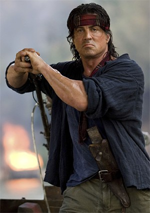 Geezer Guerrilla: Sly Stallone as John Rambo redefines retirement.