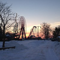 20 Photos of Snowy Ohio Amusement Parks Giant Wheel, Cedar Point, January 2014 Photo via Cedar Point, Facebook