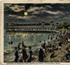 Gordon Park beach at night, early 1900s.
