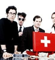 Got what it takes: Dick Valentine (third from left) and Electric Six are going strong.