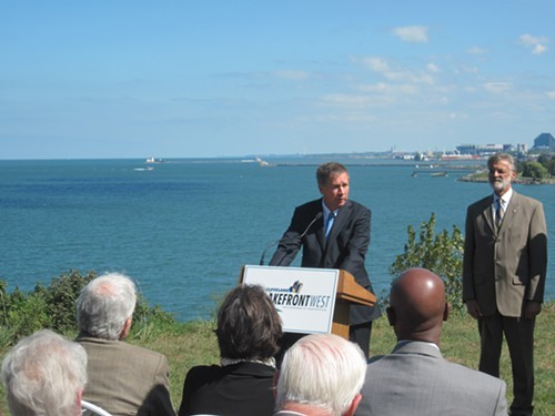 Gov. John Kasich discusses the Lakefront West plans.