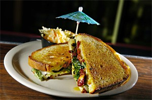 Grilled Cheese No. 4, stuffed with arugula, pesto, and sun-dried tomato, is a No. 1 hit. - WALTER NOVAK