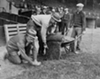 Grounds crew prepping the field, 1932.