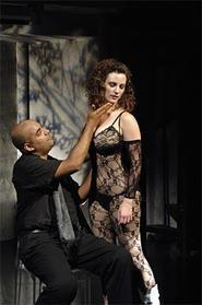Guido Contini (Fabio Polanco) and his dressed-to-the-Nine's mistress, Carla (Trista Moldovan).