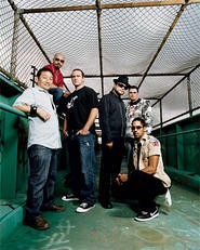 Guitarist Ral Pacheco (second from left) and Ozomatli are an authentic American melting pot.