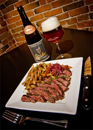 Hangin' out made easy: Tender hanger steak, grilled to perfection. - FRANK MILLER