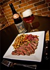 Hangin' out made easy: Tender hanger steak, grilled to perfection.