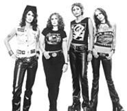 Hell-bent for pleather: Blare, Judy, Sharon, and Bianca (from left).
