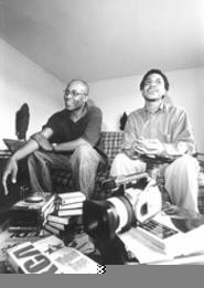 Hip-hoppers for life: Filmmaker David Velo Stewart - (left) and musician Clarence Gaines. - WALTER  NOVAK