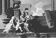 """Holy Family on the Steps,"" by Nicolas Poussin, 1648."
