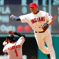 """11 Indians' Double Plays That Don't Look Like Double Plays """"How do YOU like it when I sprinkle cold water on your helmet?"""""""