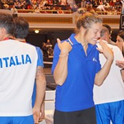 FedCup: Italy Dominates in First Day of Play, But Cleveland Still Raucous Crowd