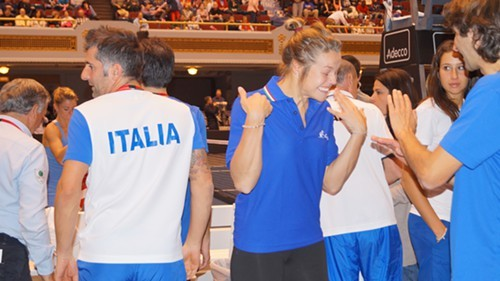 Italys Karin Knapp, after her teams second win.