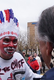 """""""It's Not Racist!"""" And Other Responses to Wahoo Protesters at Home Opener"""