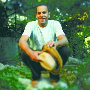 Jack Johnson, shown in a rare outdoor shot.