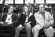 Jack Nicholson gives Dermot Mulroney and Hope - Davis the hairy eyeball.