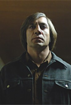 Javier Bardem: He may not be wearing a hockey mask, but this is one scary dude.