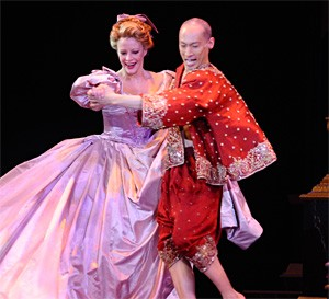 Jennifer Hughes and Francis Jue in Carousel's The King And I.