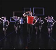 Joe (Mark Tomasic) and the Verb Ballets dancers hoofing it, sans tutu.