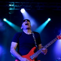Joe Satriani playing at the Lakewood Civic Auditorium