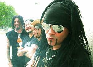 "Jourgensen cracks up his bandmates with his ""You can call me Al"" joke."