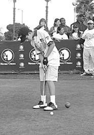 Junior golfers drive like Tiger at Thursday's Mutual of - Omaha Drive, Chip & Putt Junior Challenge.