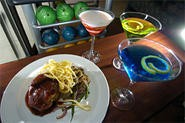 Kansas Short Ribs are lusciously paired with your choice of 'tini (and bowling ball). - WALTER NOVAK