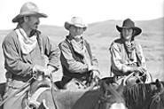 Kevin Costner, Robert Duvall, and Diego Luna ride - back over old territory.