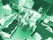 Kristen Baumlir, pumping calcium in her Moreland Hills gym - WALTER  NOVAK
