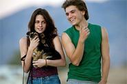 Kristen Stewart and Emile Hirsch go wilding with a ferocious wolf cub.
