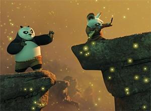 Kung Fu Panda strikes a pose.