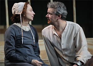 Laura Perrotta (Elizabeth Proctor) and Andrew May (John Proctor) consider their fate.