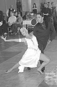 Legends of the dance floor: Lisa Vegas and husband - Nichy.
