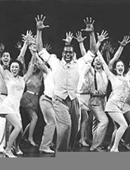 Leggy gals and spiffy guys kick it up on 42nd Street - (Tuesday).