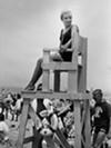 Lifeguard at Mentor Headlands, 1964.