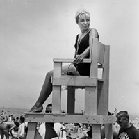 15 Vintage Cleveland Beach Photos Lifeguard stand, 1960s.