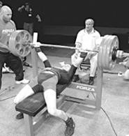 Lift, Steve, lift! - Petrencak reaches for the gold at the World Open - Bench Press Championships.