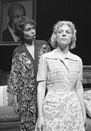 Lily (Vivian Reed, left) lays into Gerte (Meg Kelly - Schroeder).
