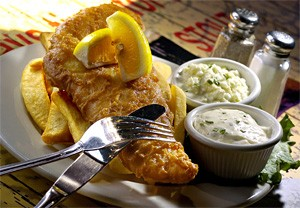 Lord of the Fish: On Fridays, beer-battered cod partners with toe-tapping tunes. - WALTER NOVAK